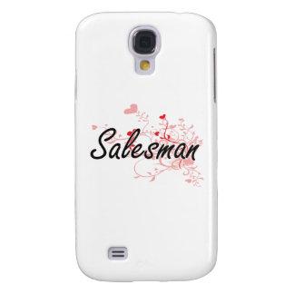 Salesman Artistic Job Design with Hearts Samsung Galaxy S4 Case