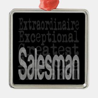 Salesman Extraordinaire Metal Ornament