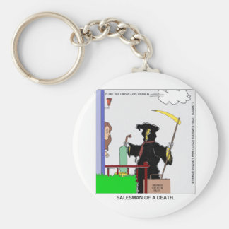 Salesman Of A Death Funny Gifts Cards Tees & Mugs Keychain