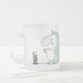 Salesmanship begins when the customer says no 10 oz frosted glass coffee mug