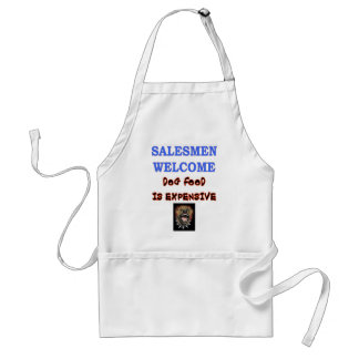 SALESMEN WELCOME ADULT APRON