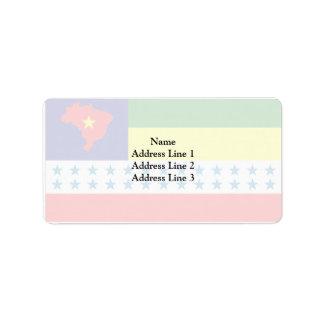 Salesopolis Saopaulo Brasil, Brazil Custom Address Label
