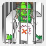 Salga de cárcel pegatinas cuadradases personalizadas