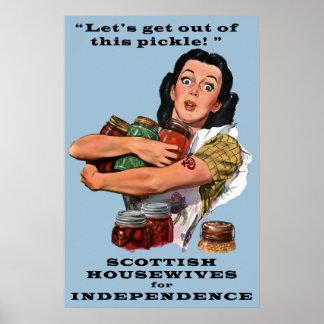 Salga de esta salmuera con independencia escocesa póster
