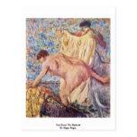 Salga de la bañera de Edgar Degas Tarjeta Postal