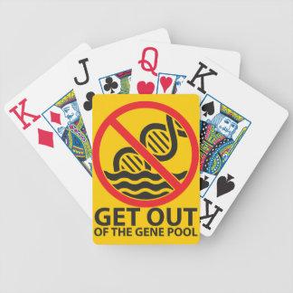 Salga de la reserva genética baraja cartas de poker
