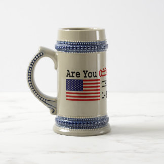 Salga de los E.E.U.U. Jarra De Cerveza