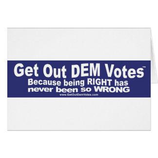 Salga de los votos del DEM - camisetas, pieles, y  Tarjeta De Felicitación