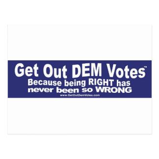 Salga de los votos del DEM - camisetas, pieles, y Tarjetas Postales
