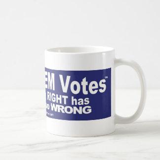 Salga de los votos del DEM - camisetas, pieles, y Taza Clásica