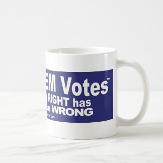 Salga de los votos del DEM - camisetas, pieles, y Taza De Café