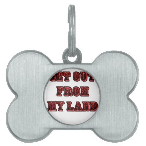 Salga de mi tierra placas mascota