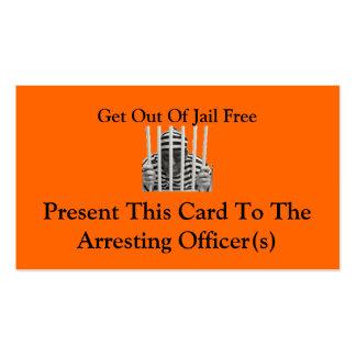Salga de tarjetas libres de la cárcel tarjeta personal