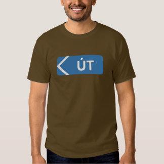 Salga del área, señal de tráfico, Islandia Camisas