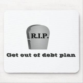 Salga del cojín de ratón del plan de la deuda tapetes de raton
