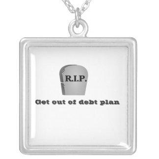 Salga del collar del plan de la deuda