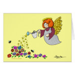 Salga del sitio en su jardín para los ángeles a la tarjeta