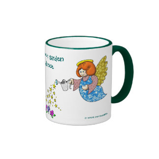 Salga del sitio en su jardín para los ángeles a la taza