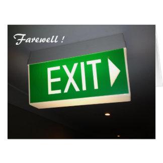 salga el adiós grande tarjeta de felicitación grande