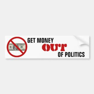 Salga el dinero de política pegatina para auto