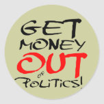 ¡Salga el dinero! Etiqueta Redonda