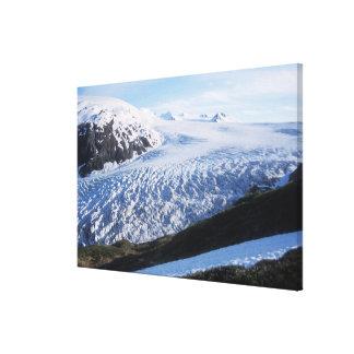 Salga el glaciar en parque nacional de los fiordos impresion en lona