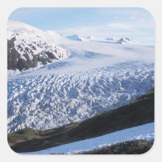 Salga el glaciar en parque nacional de los fiordos pegatina cuadrada