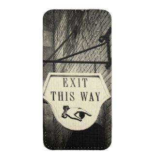 Salga esta manera funda acolchada para iPhone