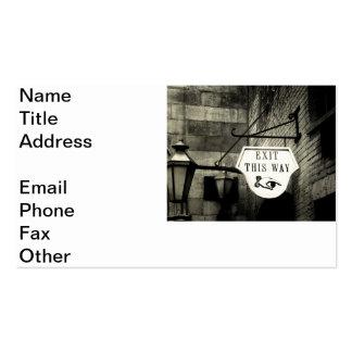 Salga esta manera tarjetas de visita
