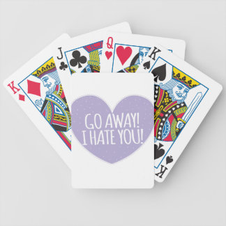 ¡SALGA! Le odio en corazón del amor Cartas De Juego