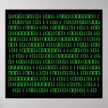 Salga más - del poster del código binario