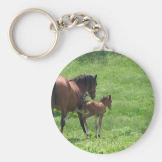 Salga un retroceso de caballos de la vida llavero redondo tipo pin