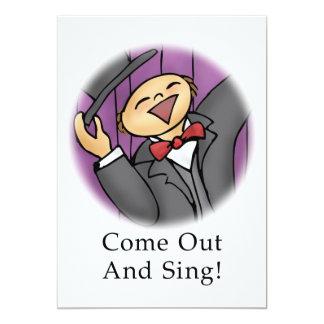 """¡Salga y cante! Invitación 5"""" X 7"""""""
