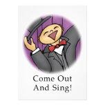 ¡Salga y cante! Invitaciones Personales