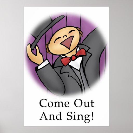 ¡Salga y cante! Poster