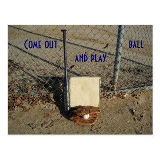 Salga y juegue la postal de la bola