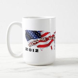 Salga y vote por el mitón para el presidente 2012 taza de café