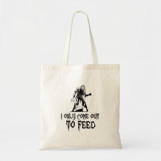 Salgo solamente alimentar al zombi retro bolsa