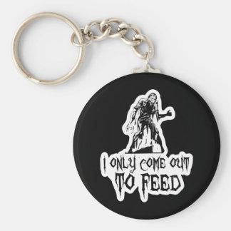Salgo solamente alimentar al zombi retro llavero
