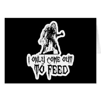 Salgo solamente alimentar al zombi tarjeta