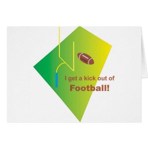 Salgo un retroceso de fútbol tarjeta de felicitación