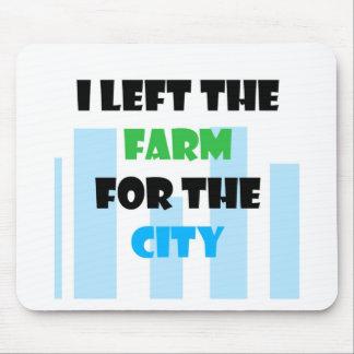 salí de la granja para la ciudad alfombrillas de raton