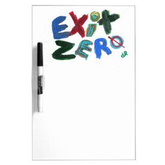 salida cero tablero blanco