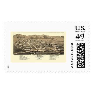 Salida, CO Panoramic Map - 1882 Stamp