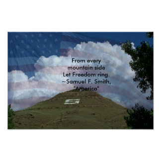 Salida Colorado Tenderfoot Hill Poster
