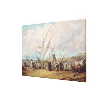 Salida de Cristóbal Colón de Palos Lienzo Envuelto Para Galerías