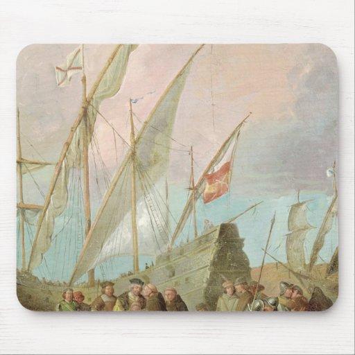 Salida de Cristóbal Colón de Palos Tapetes De Ratones