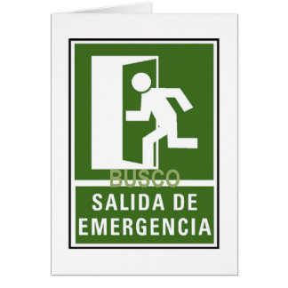 SALIDA DE EMERGENCIA CARDS