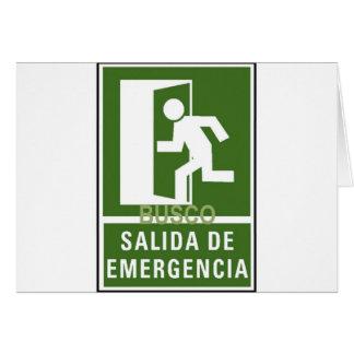 SALIDA DE EMERGENCIA CARD
