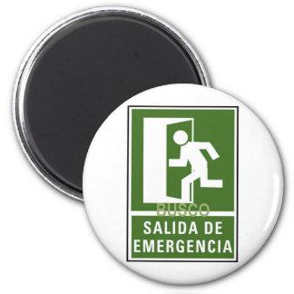 SALIDA DE EMERGENCIA FRIDGE MAGNETS